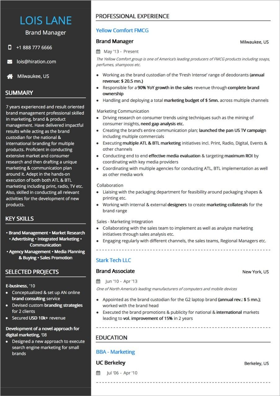 Work Experience One Year Experience Resume The 2 Secrets