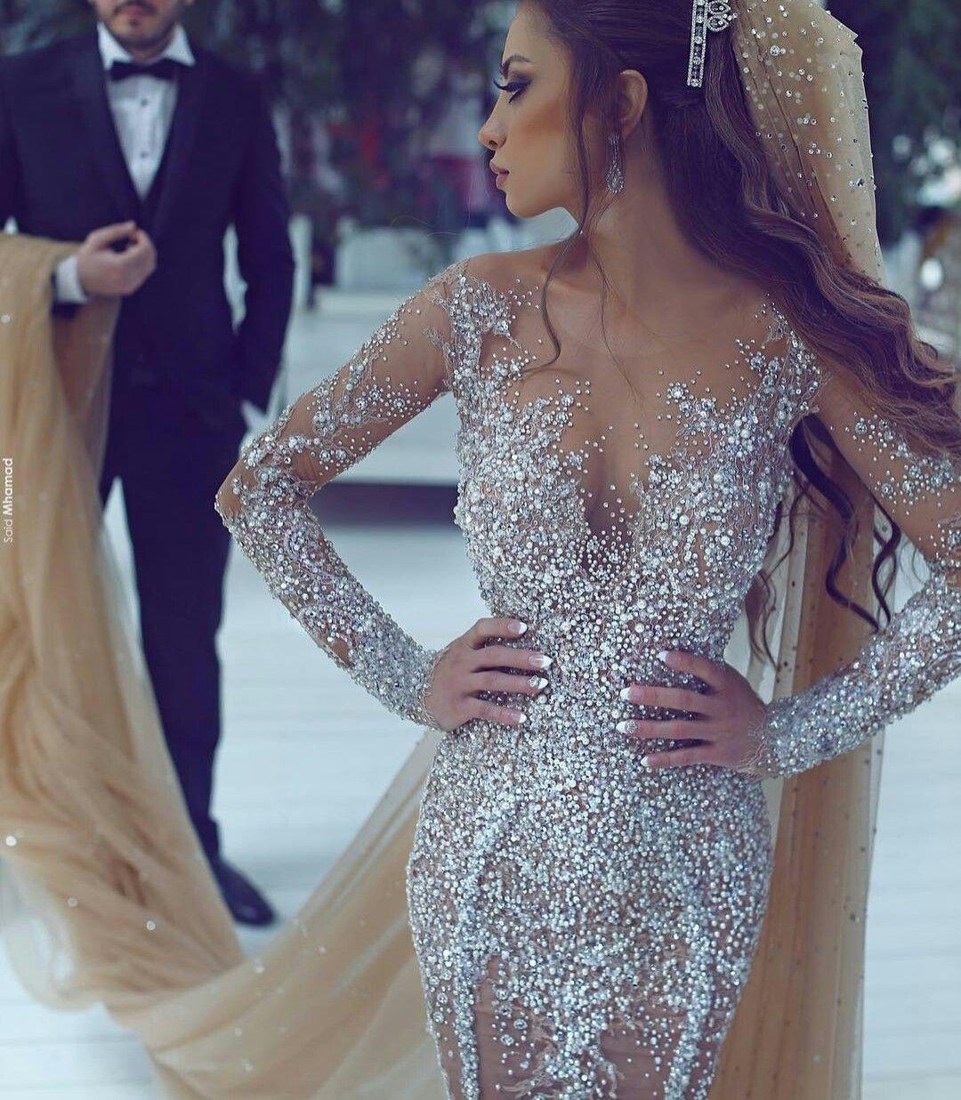 ⚜pinterest elegant point⚜ | brautkleid lange ärmel