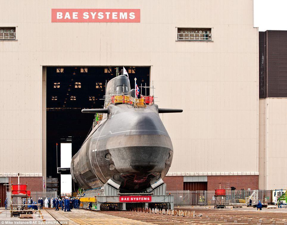 Third of Britain\'s £1billion Astute class submarines finally ...