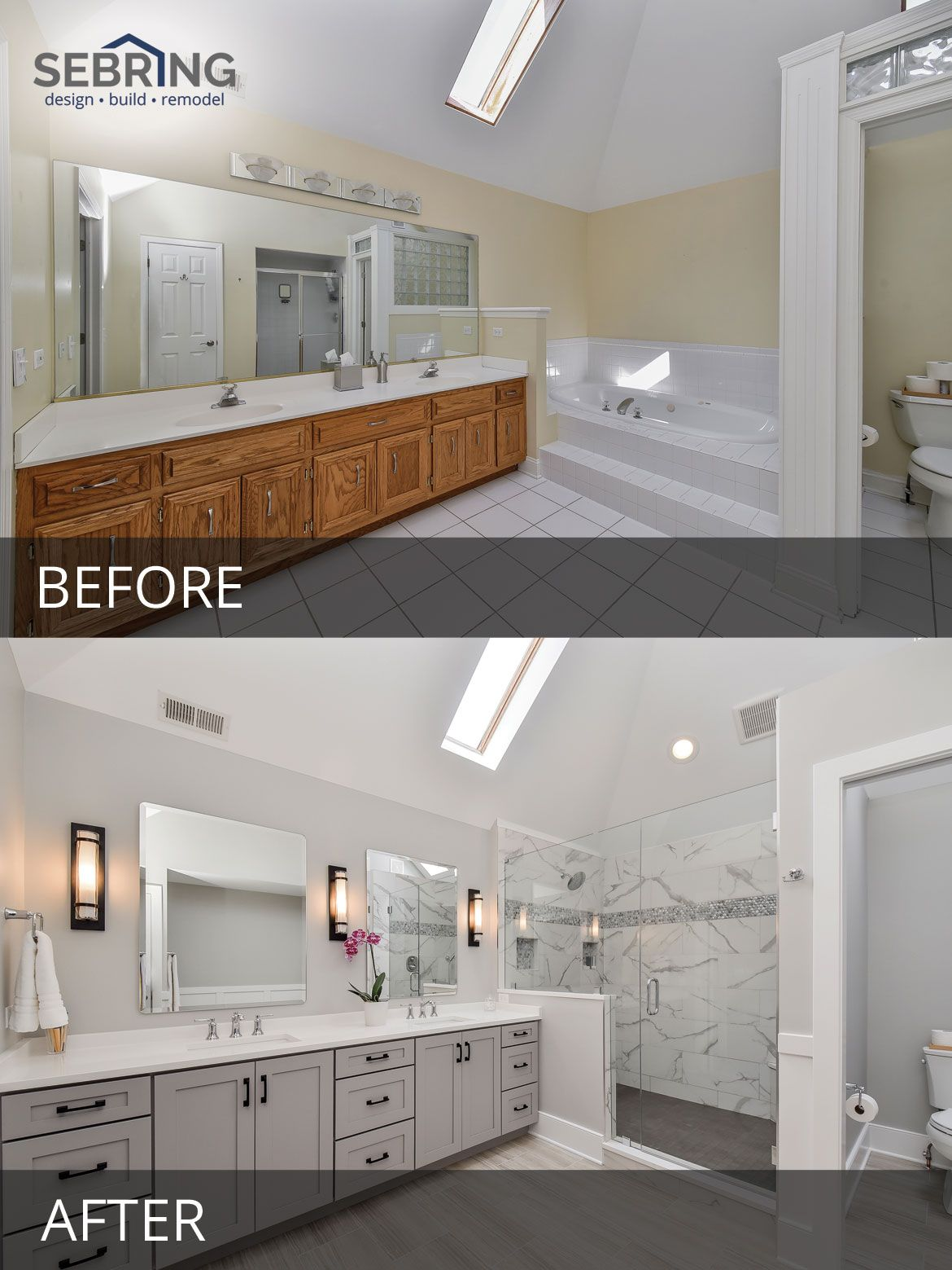 Sarah Ray S Master Bathroom Before After Pictures Cheap Bathroom Remodel Bathrooms Remodel Diy Bathroom Remodel
