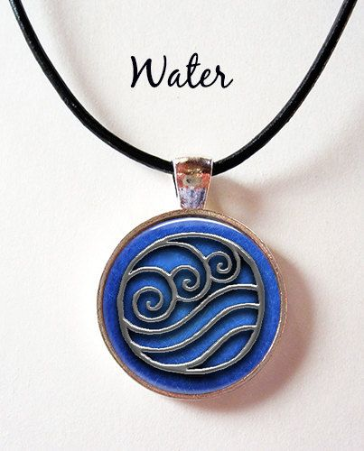 Last Airbender Elements Symbol Pendant Choice Of Air Water Earth Or