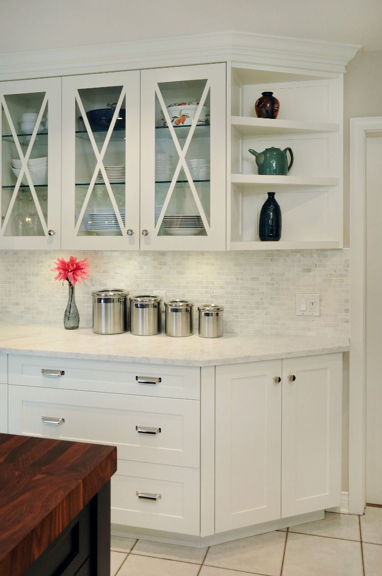 KITCHEN PERIMETER || Painted shaker style custom cabinetry ...