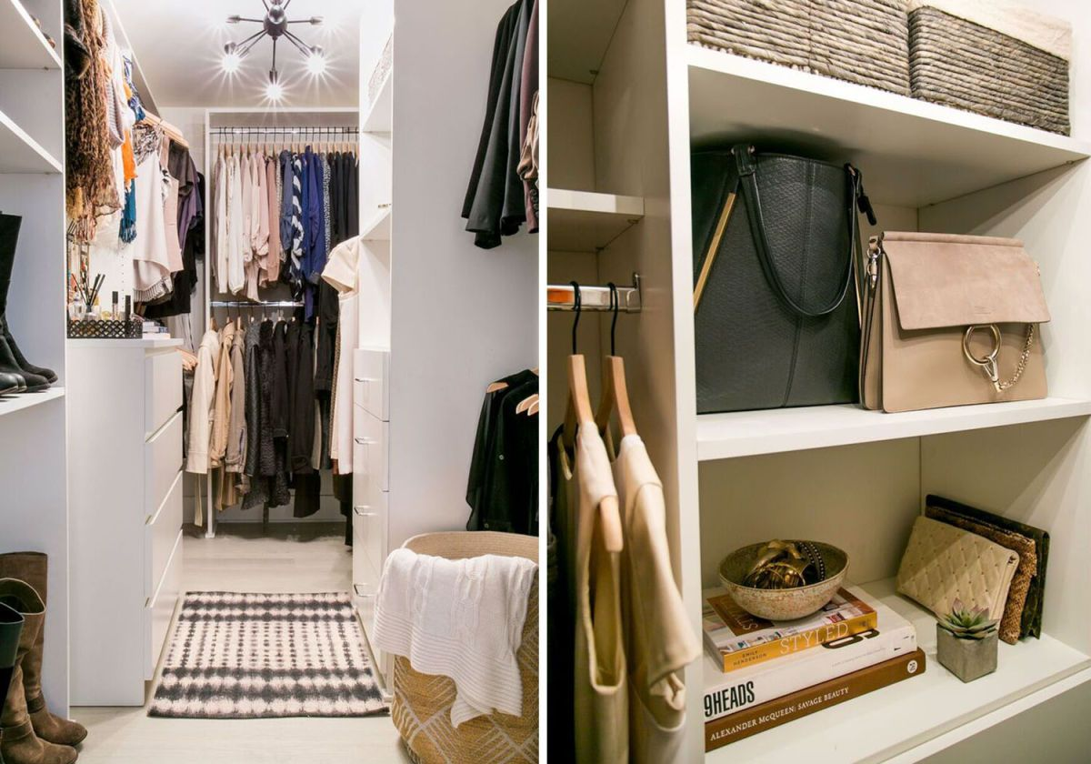 Best This Small Scale Closet Is Equipped With Sleek White 640 x 480