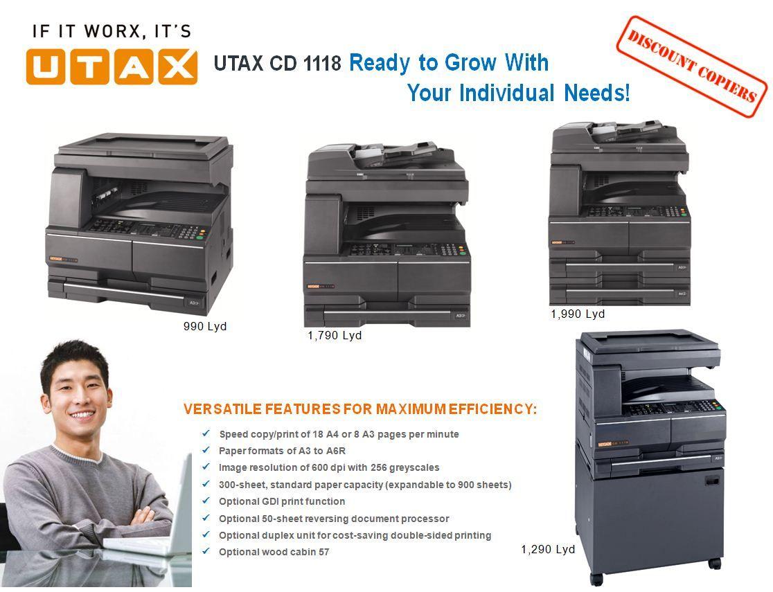 General Type Desktop Function Copying Optional Printing