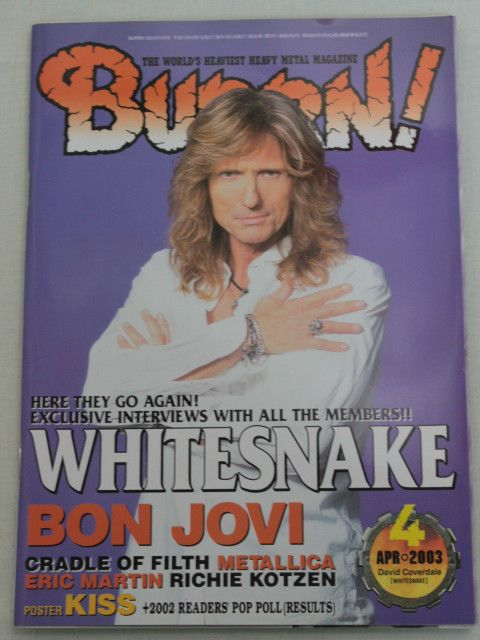 2003/04 BURRN! Japan Magazine WHITESNAKE/BON JOVI/CRADLE OF FILTH/FOZZY/DATSUNS