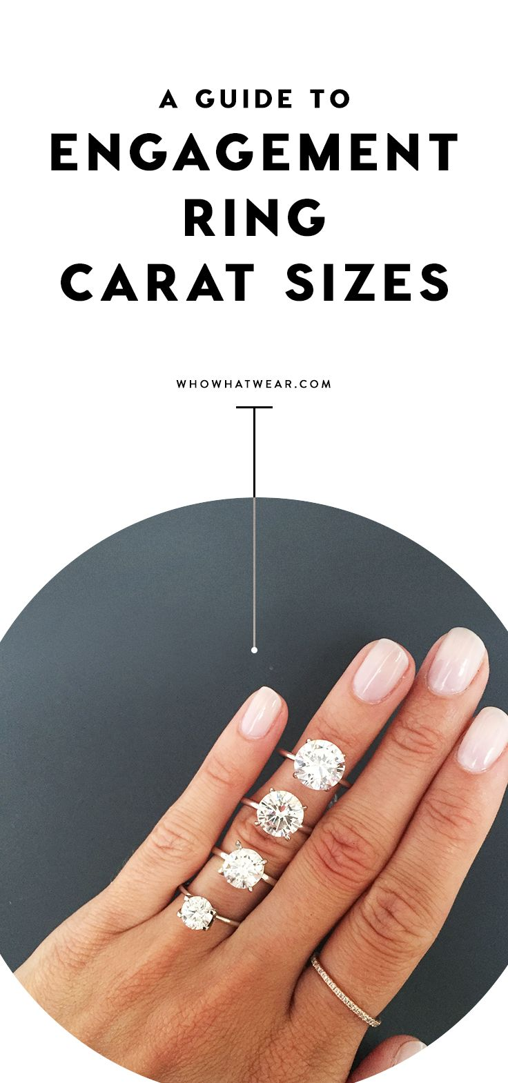 A SidebySide Carat Comparison of Different Engagement Ring Sizes