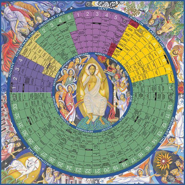 2018 | Year of Grace | Liturgical Calendar | Paper Poster ...