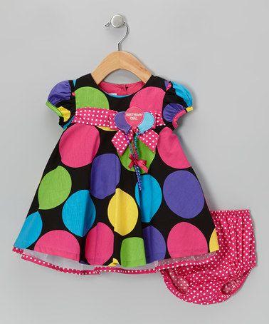 Fuchsia Birthday Balloon Dress - Toddler by Gerson & Gerson on #zulily! #zulilyfinds