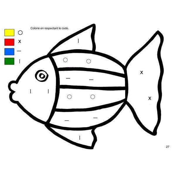 Exceptionnel Graphisme : je colorie en respectant le code (100 fiches pour  HT69