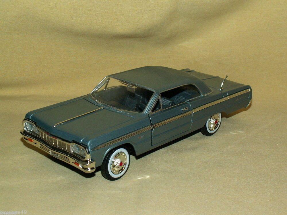 Silver Blue Metallic 1964 Chevy Chevrolet Impala 1 24 Loose 73259 Chevrolet Chevrolet Impala