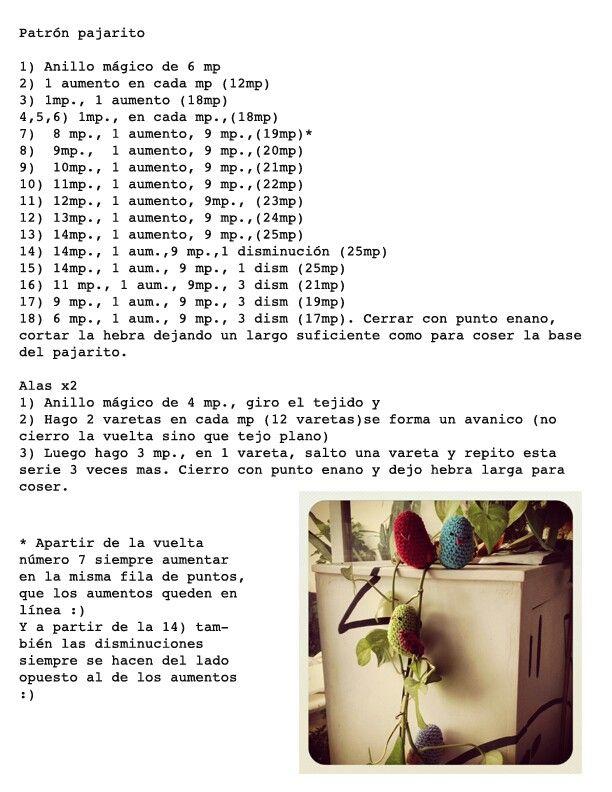 Crochet | pájaros | Pinterest | Crochet
