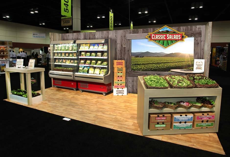 design classic salad trade show booths exhibition booth booth ideas