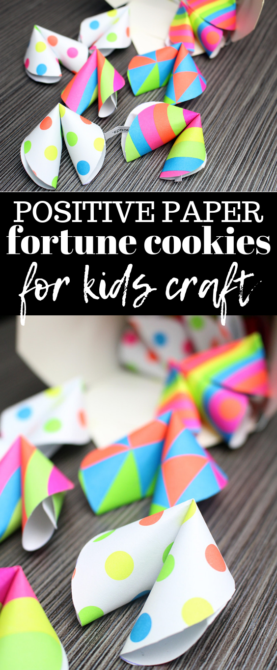 Positive Paper Fortune Cookies Craft for Kids - Six Time Mommy and Counting…