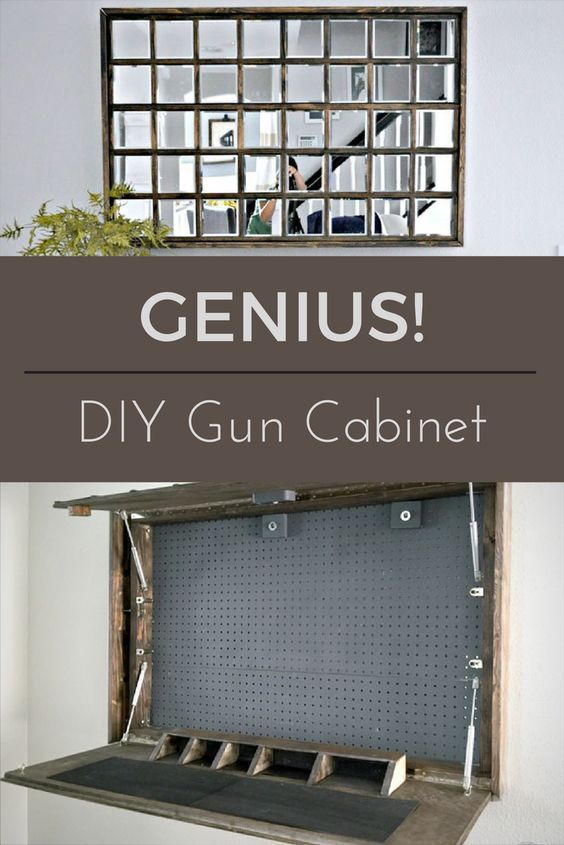 This DIY Gun Cabinet, Inspired By A Pottery Barn Mirror Cabinet, Will  Completely Conceal Guns, Magazines, And Ammunition, Within Plain Sight.