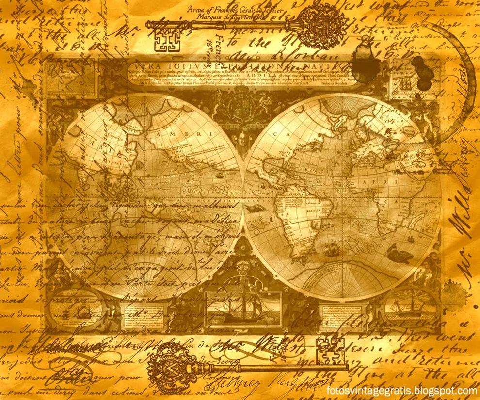 mapa antiguo vintage