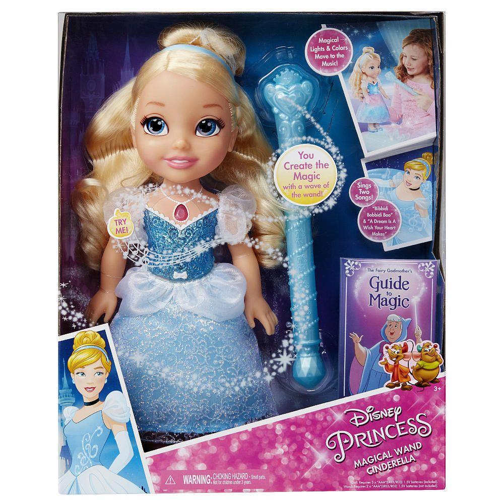 Disney Princess Hair Glow Rapunzel Toddler Doll Magical Hair Pretend Play Toy