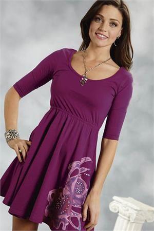 Roper Women's Purple Floral Dress