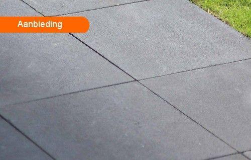 Aanbieding Terrastegels 60x60.Moderno Excellent 60x60 Cm Antraciet Terrastegels Bestratingsweb