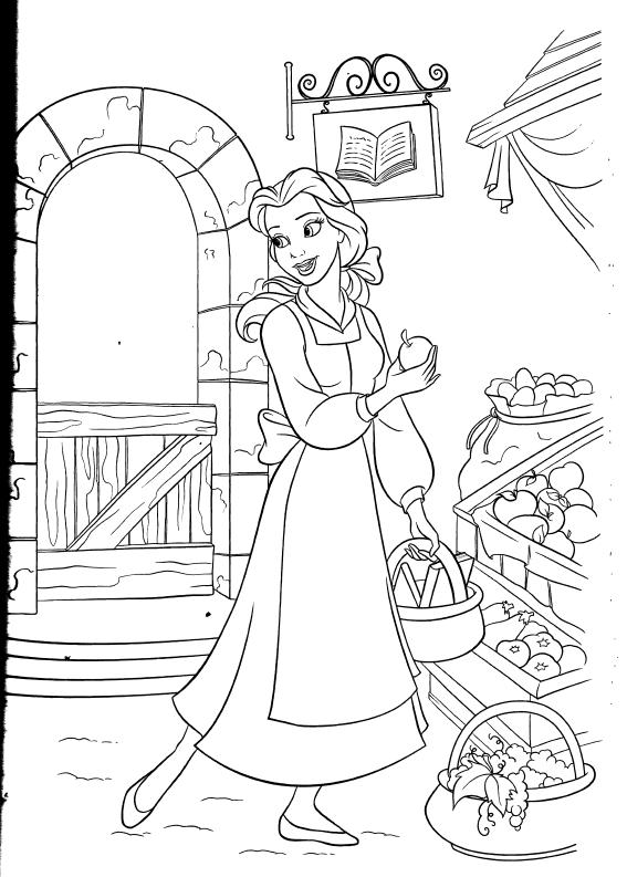 coloriage la belle et la bête   Princess coloring pages, Disney coloring pages
