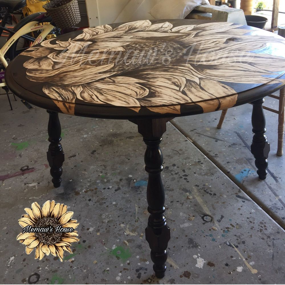 How To Paint A 12 99 Goodwill Table Makeover Memaw S Way Table Makeover Coffee Table Upcycle Staining Wood [ 1000 x 1000 Pixel ]