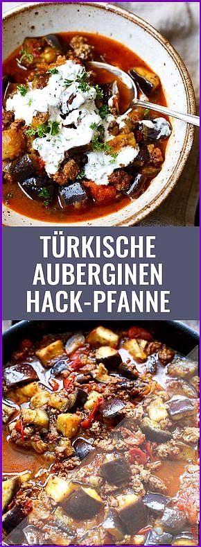T rkische Auberginen-Hackfleisch-Pfanne Einfach und super lecker  Kochkarussell T rkische Auberginen...