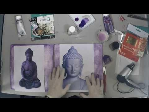 Découverte de multiples techniques de dorure avec deux Buddhas - BeauxArts.fr