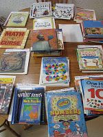 books that can be integrated into math lessons, divided into sections by topic