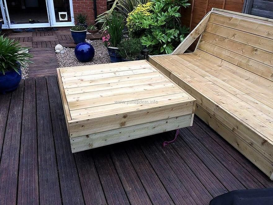 Pallets Powered Garden Deck with Furniture Jardines, Muebles y - terrazas con palets