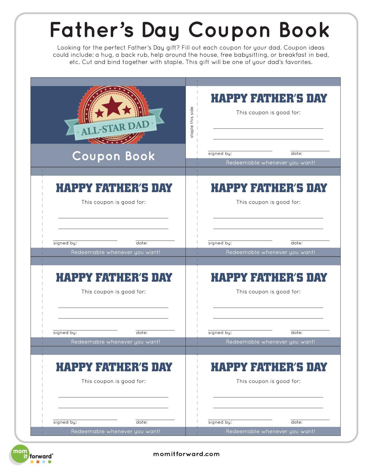 Father S Day Coupon Book Printable