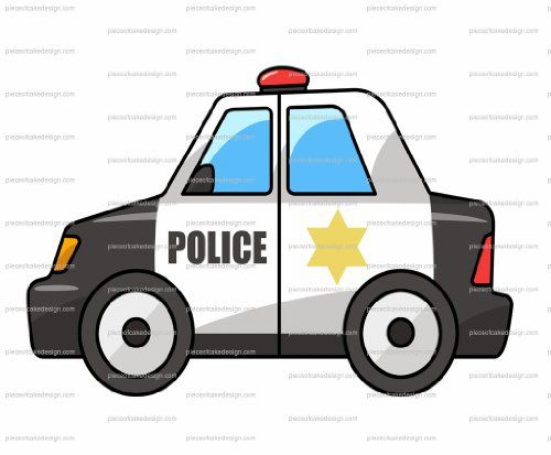 3 Cartoon Police Car Birthday Edible Image Cakecupcake Topper Details Can Be Found By Clicking On The Image Police Police Cars Art And Craft Videos
