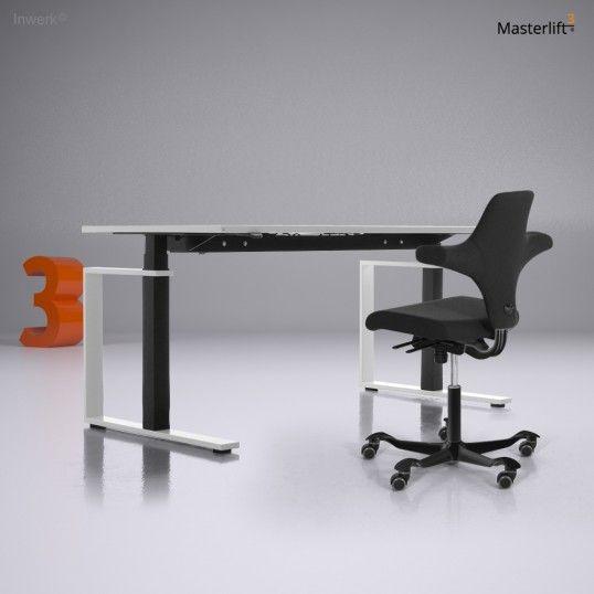 steh sitz schreibtisch inwerk masterlift 3 stand sitz. Black Bedroom Furniture Sets. Home Design Ideas