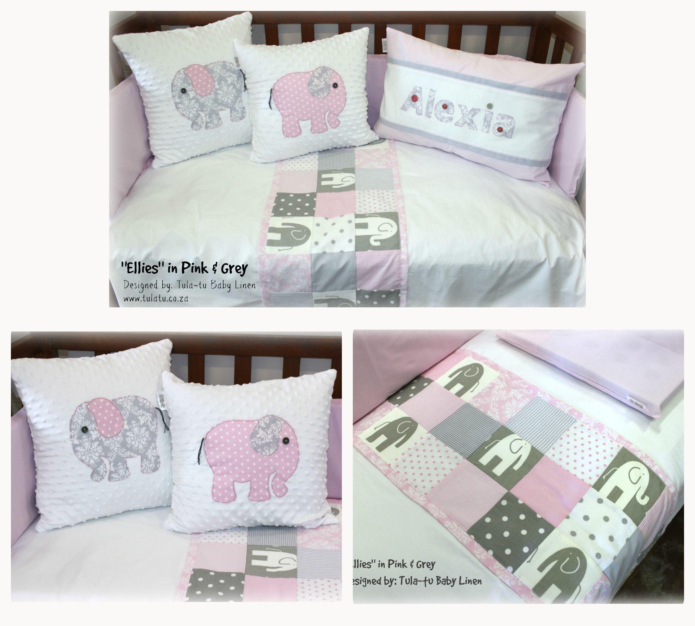 Elephant Theme Cot Linen Crib Linen Baby Linen Nursery Linen