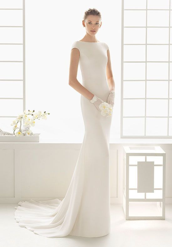 Rosa Clara Dylan Crepe Dress In Ivory Also Available In Ecru