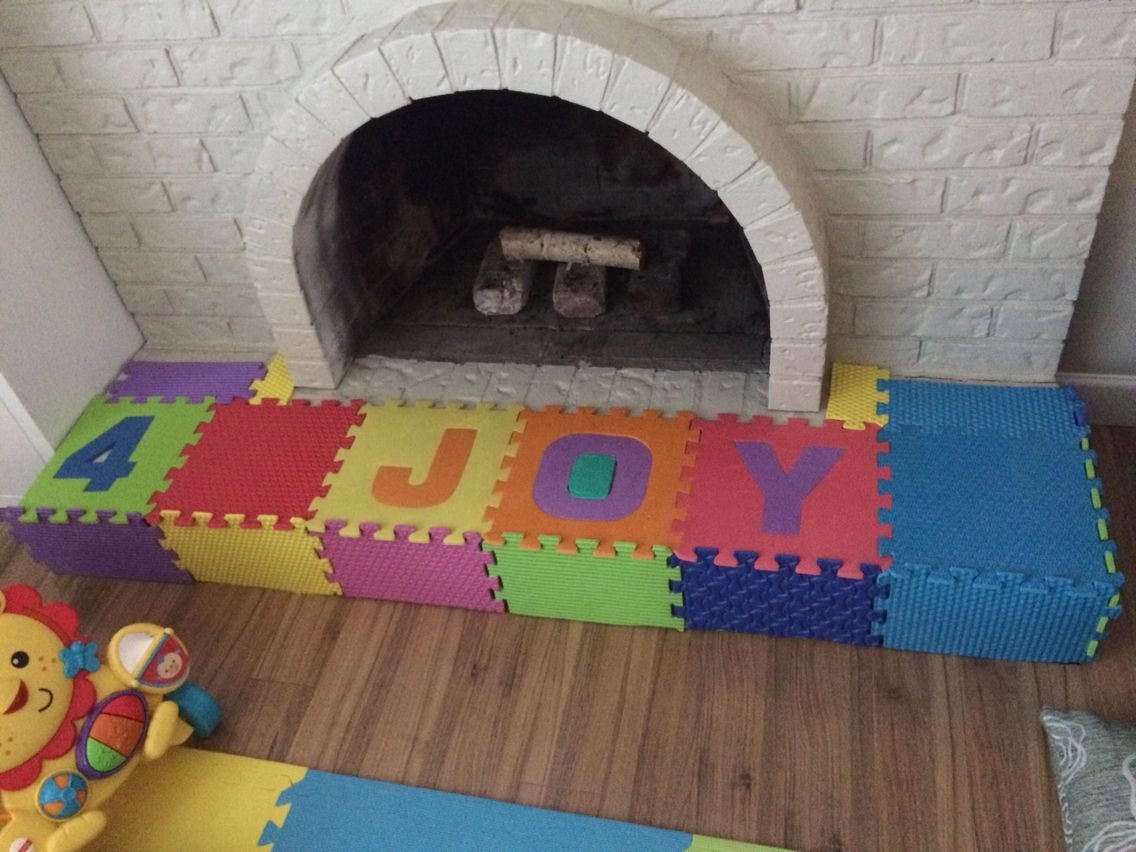 Fireplace Hearth Cover Made This For 5 Baby Proofing