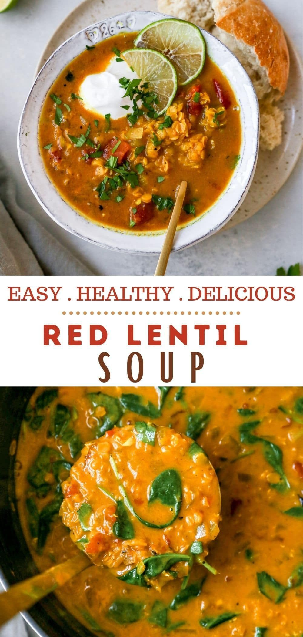 Major Warm Cozy And Comforting Vibes With A Tasty Red Lentil Soup Recipe In 2020 Red Lentil Soup Lentil Soup Recipes Stew Recipes