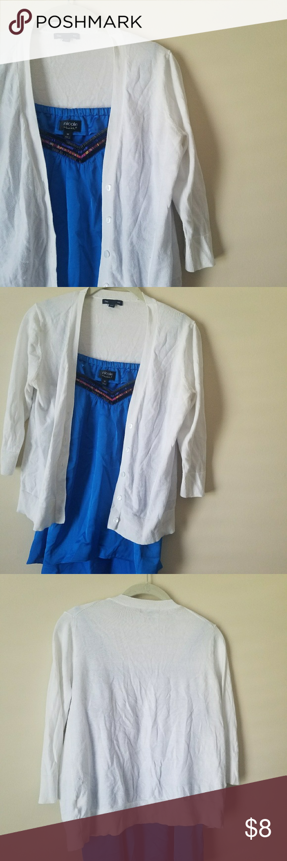 GAP white cropped cardigan | Sweater cardigan, Cardigans and ...