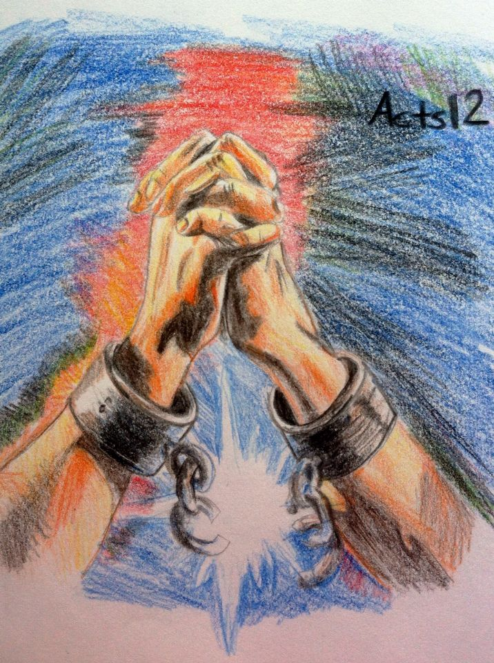 Broken Chains A Colored Pencil Drawing I Did From Acts 12 GodIsAwesome