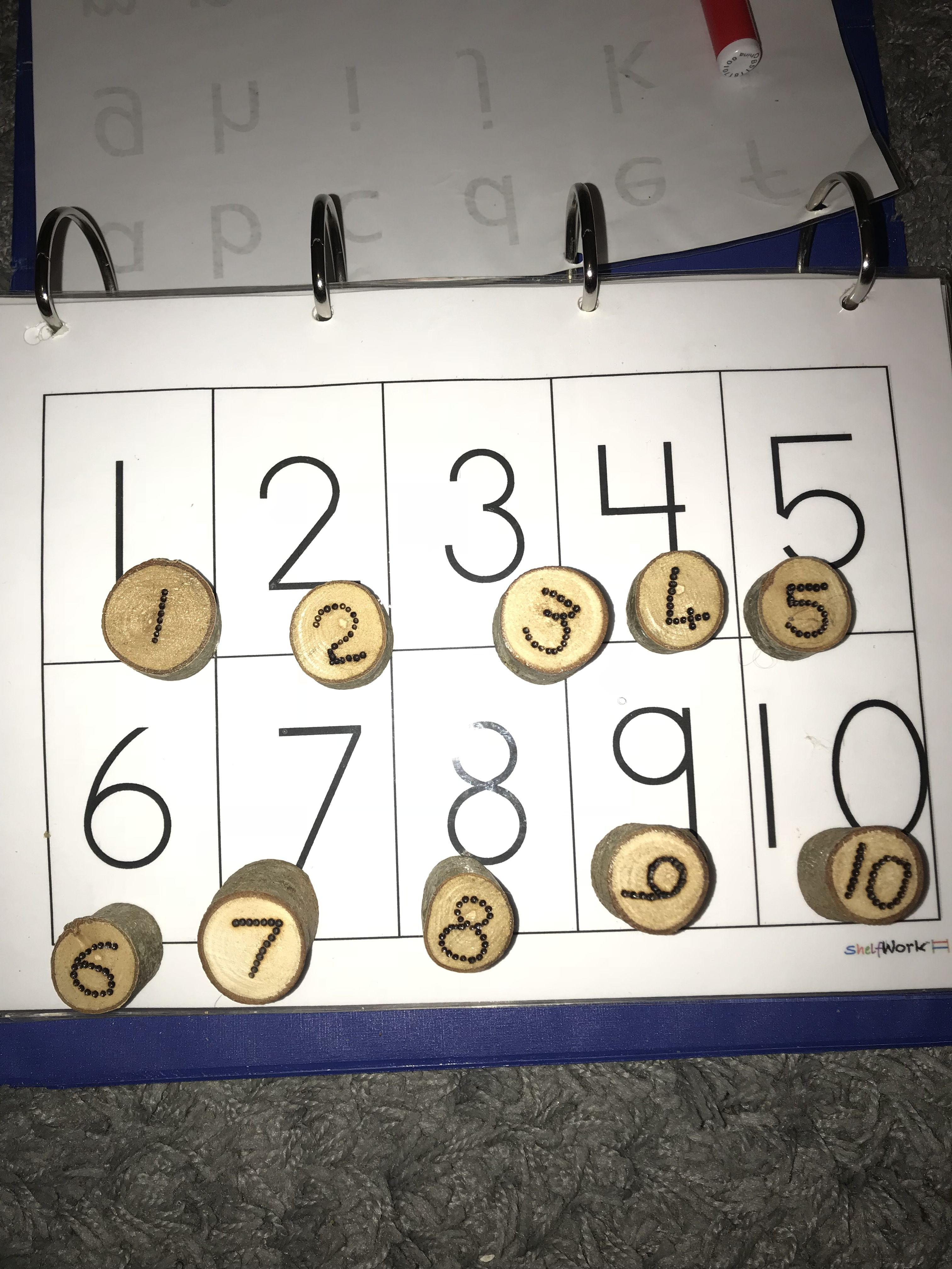 Number Recognition Activity For Toddlers Using Natural