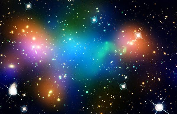Dark Matter In Galaxy Cluster Abell 520 By Astronomy Gift Shop