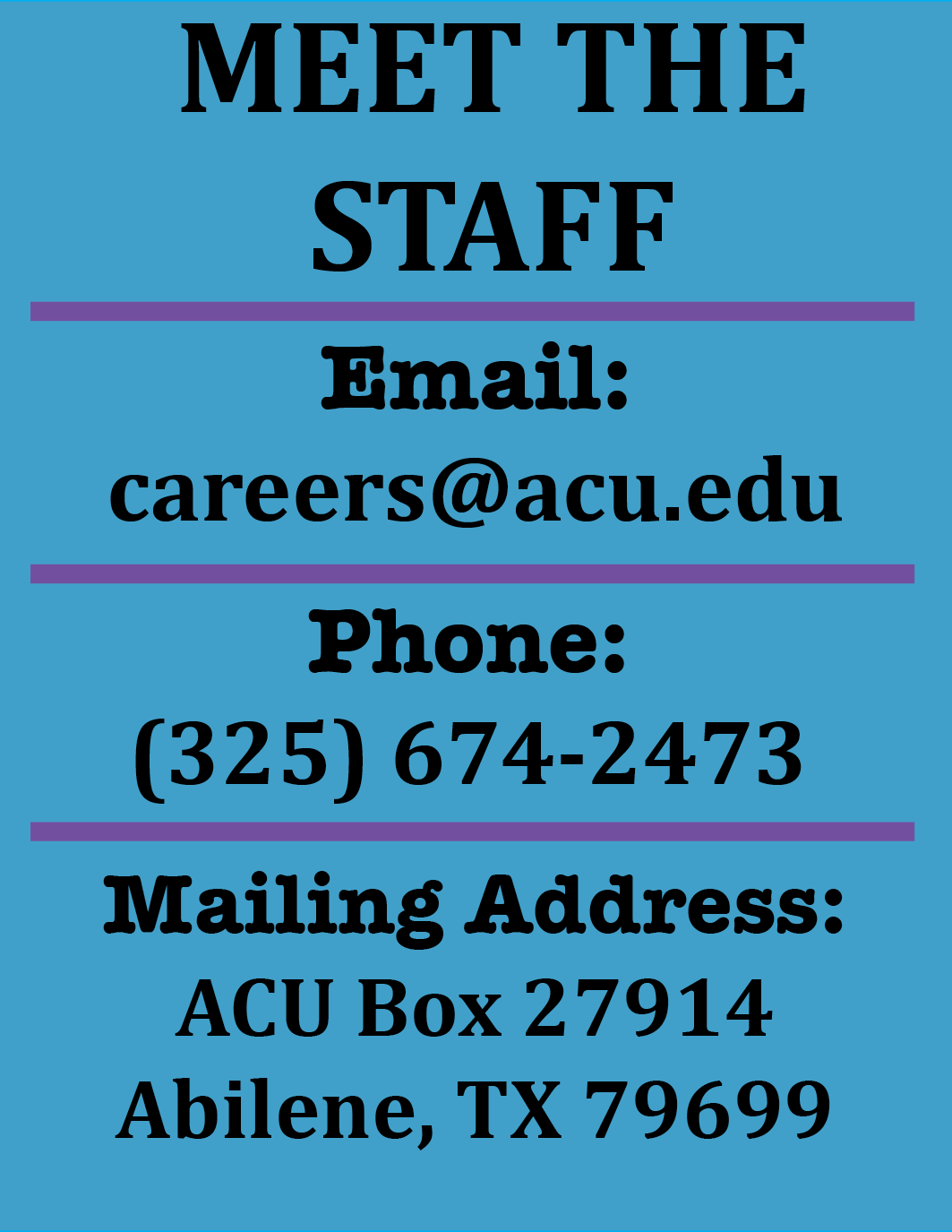 The Career Center Contact Information Staff email
