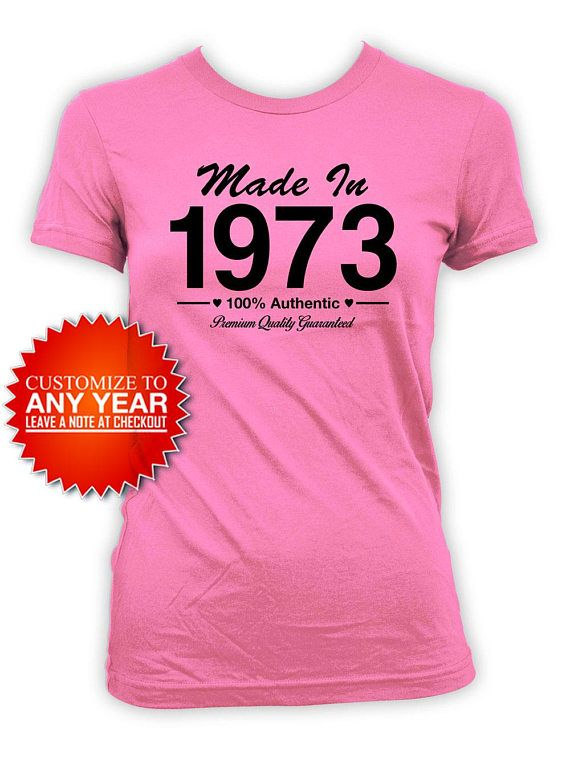 Funny Birthday Shirt 45th T Bday Gift Ideas For Women Presents Her Custom Ma