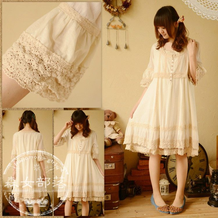 Aliexpress.com : Buy 2014 new mori girl summer spring fashion patchwork design women's expansion bottom a spaghetti strap lace one piece dress from Reliable dress up paris fashion suppliers on fashion loader.