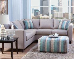 Light Gray Blue Two Piece Couch