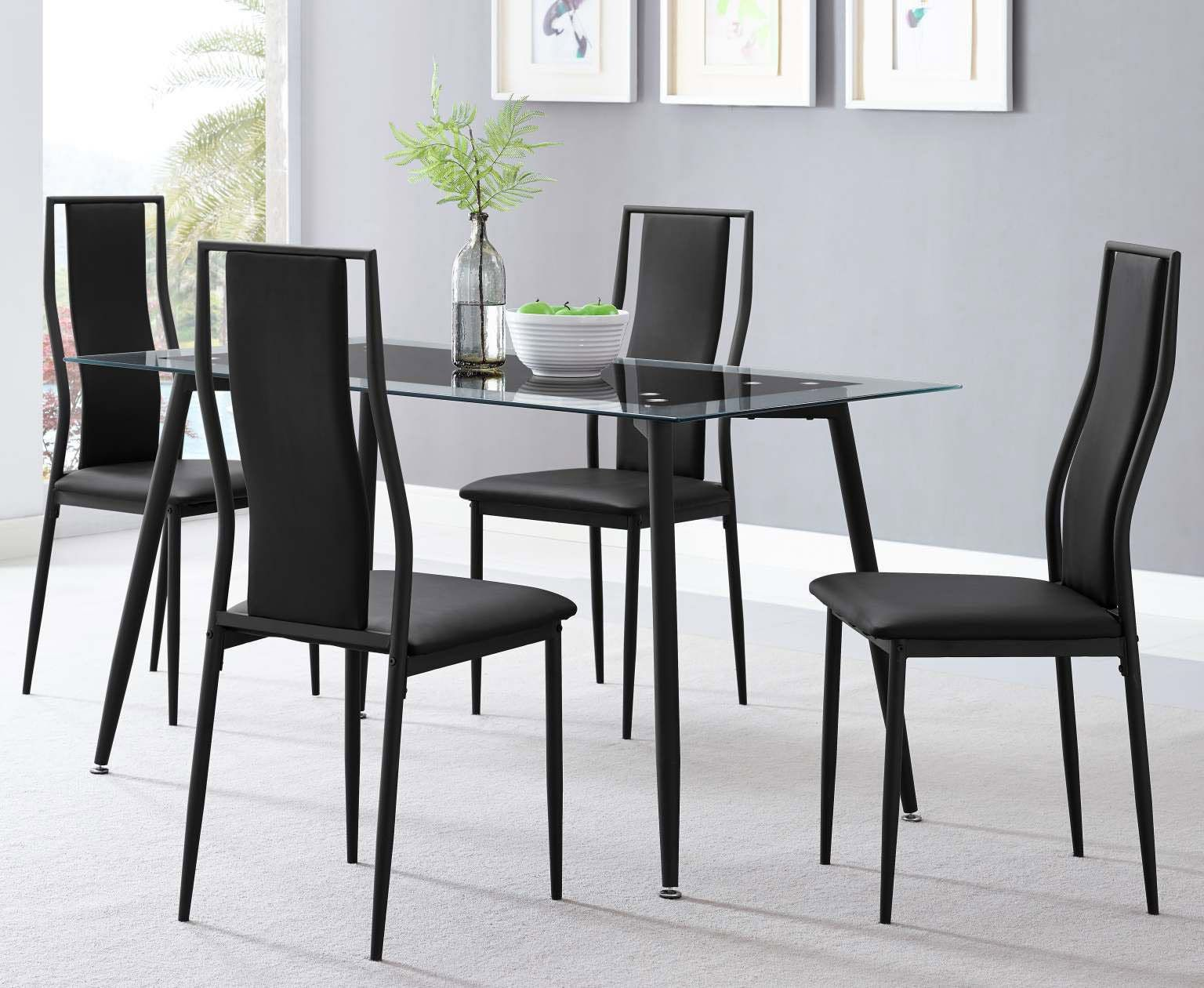 Delta 5 Piece Set With Black Metal Frame 279 00 Table 55 X 31 5
