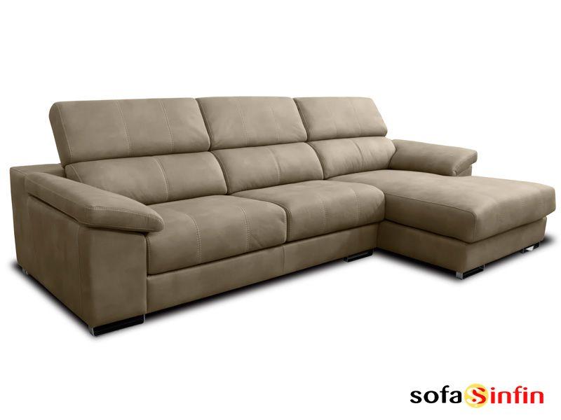 Sofá con chaise longue modelo Tirso fabricado por Losbu en