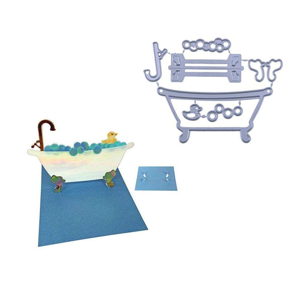 Gainvictorlf cutting die pop up bathtub s stencils diy scrapbooking
