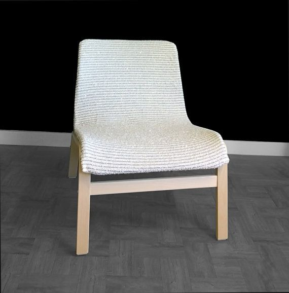 Cream Ikea Nolmyra Chair Seat Cover Sequin By