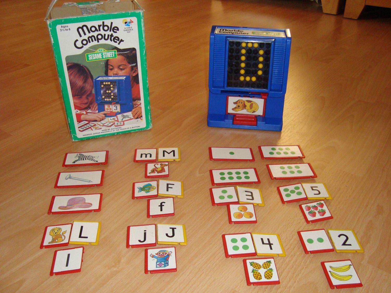 Sesame Street Marble Computer Flashback Monopoly Games