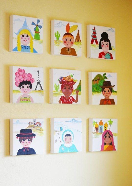 Decorar con pompones | Pinterest | Habitación bebé niña, Habitación ...