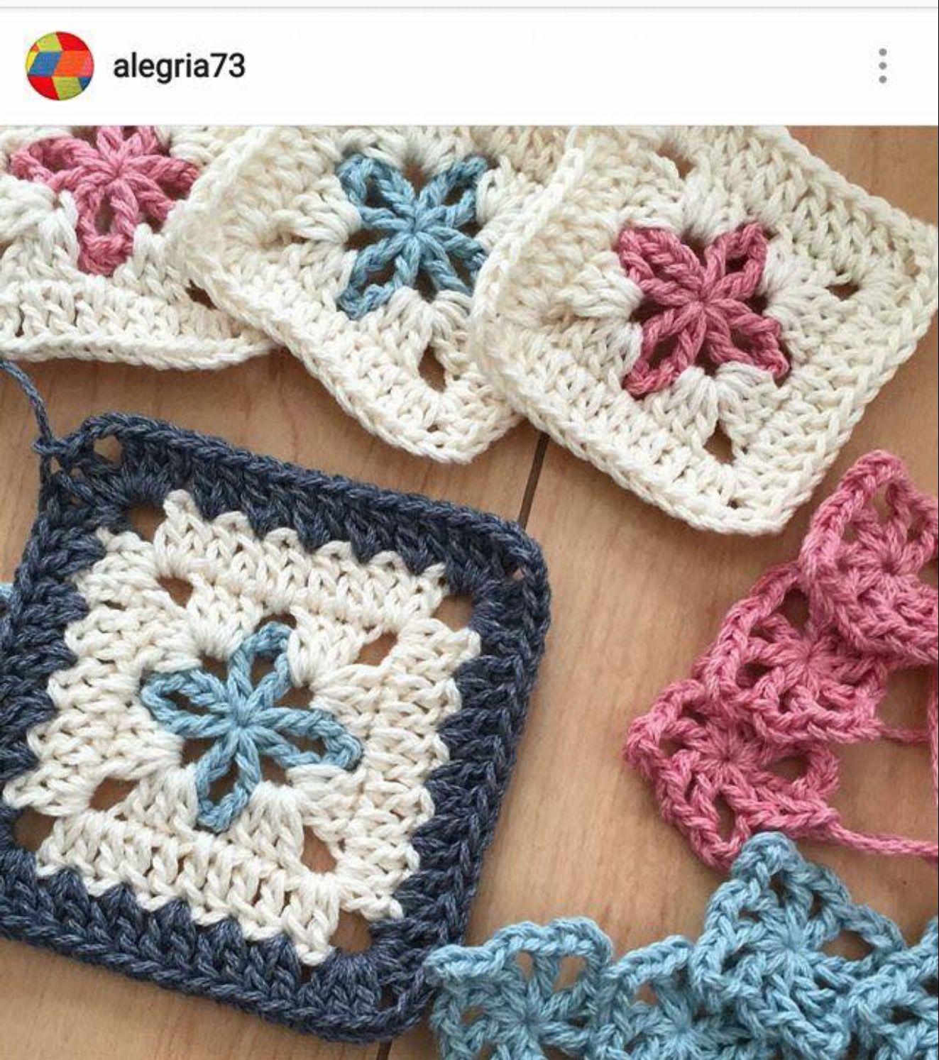 Crochet square motif | crochet | Pinterest | Crochet squares ...